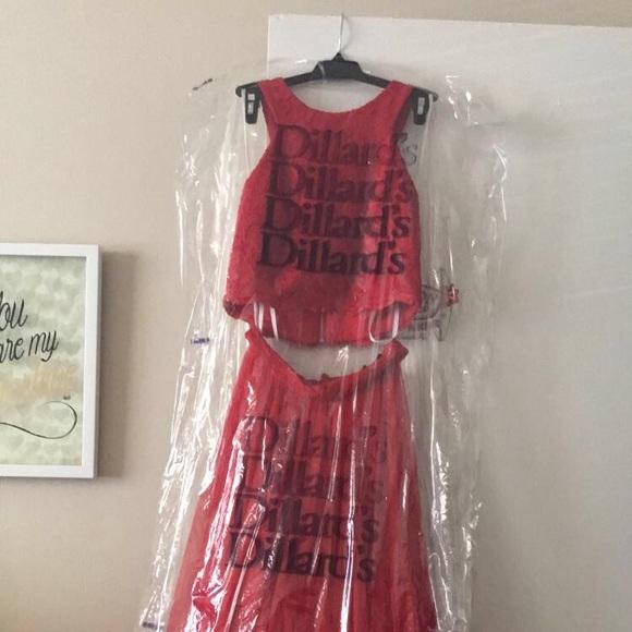 Dresses | Dillards 2 Piece Red Ball Gown | Poshmark